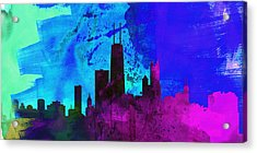 Chicago City Skyline Acrylic Print by Naxart Studio