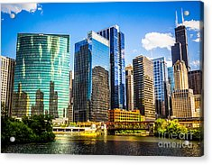 Chicago City Skyline Acrylic Print by Paul Velgos