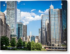 Chicago Cityscape Downtown Buildings Acrylic Print by Paul Velgos