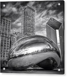 Chicago Bean Cloud Gate Hdr Picture Acrylic Print by Paul Velgos