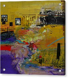 Chicago Collage 2 Acrylic Print by Corporate Art Task Force