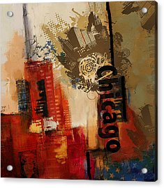 Chicago Collage Alternative Acrylic Print by Corporate Art Task Force