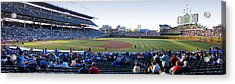 Chicago Cubs Pregame Time Panorama Acrylic Print by Thomas Woolworth