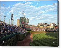 Chicago Cubs Scoreboard 03 Acrylic Print by Thomas Woolworth
