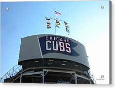 Chicago Cubs Signage Acrylic Print by Thomas Woolworth