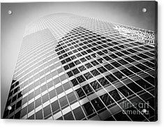 Chicago Curved Building In Black And White Acrylic Print by Paul Velgos
