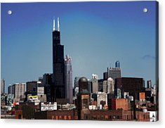 Chicago Acrylic Print by David Blank
