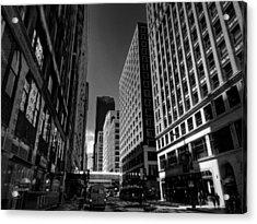 Chicago - E Madison Street 001 Acrylic Print by Lance Vaughn