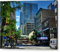Chicago - E Randolph Street 001 Acrylic Print by Lance Vaughn