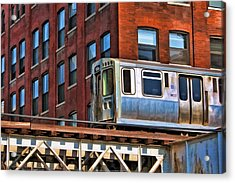 Chicago El And Warehouse Acrylic Print by Christopher Arndt