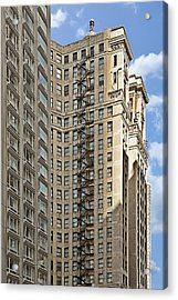 Chicago - Emergency Fire Escape Acrylic Print by Christine Till