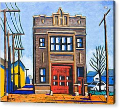 Chicago Fire Station Acrylic Print