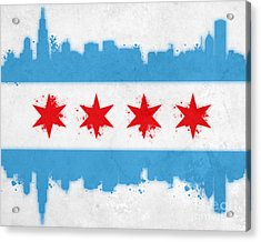 Chicago Flag Acrylic Print