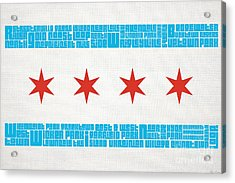 Chicago Flag Neighborhoods Acrylic Print