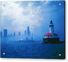 Chicago Fog Acrylic Print by Rita Mueller