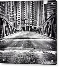 #chicago #hdr #bridge #blackandwhite Acrylic Print
