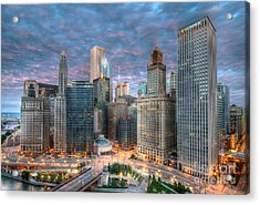 Chicago Hdr Acrylic Print by Jeff Lewis