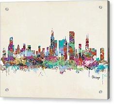 Chicago Illinois Skyline Acrylic Print by Bri B