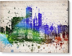Chicago In Color Acrylic Print by Aged Pixel