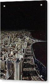 Chicago Lakefront Aglow Acrylic Print