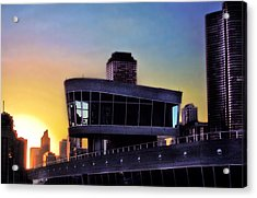 Acrylic Print featuring the photograph Chicago Lock Tower by John Hansen