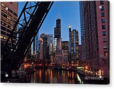 Chicago Loop Acrylic Print by Jeff Lewis
