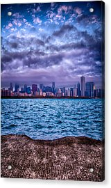 Chicago Lost In The Clouds Acrylic Print