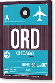 Chicago Luggage Poster 1 Acrylic Print