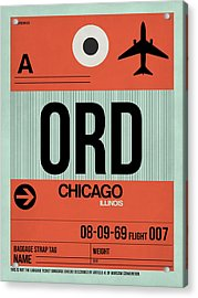 Chicago Luggage Poster 2 Acrylic Print by Naxart Studio