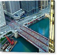 Chicago Marathon 2008 Acrylic Print