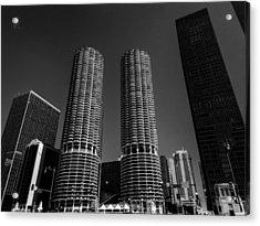 Chicago - Marina City 001 Acrylic Print