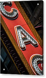 Chicago Marquee Acrylic Print
