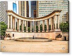 Chicago Millennium Monument In Wrigley Square Acrylic Print