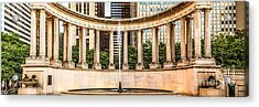 Chicago Millennium Monument Wrigley Square Panorama Photo Acrylic Print