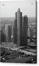 Chicago Modern Skyscraper Black And White Acrylic Print by Thomas Woolworth