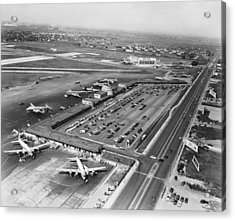Chicago Municipal Airport Acrylic Print by Underwood Archives