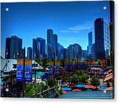 Chicago - Navy Pier 001 Acrylic Print by Lance Vaughn