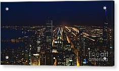 Chicago Night Lights Acrylic Print