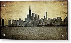Chicago On Canvas Acrylic Print