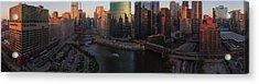 Chicago On The River Acrylic Print by Steve Gadomski