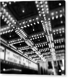 Chicago Oriental Theatre Lights Acrylic Print by Paul Velgos