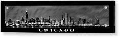 Chicago Panorama At Night Acrylic Print by Sebastian Musial