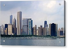 Chicago Panorama Acrylic Print by Milena Ilieva