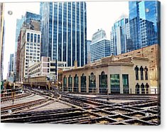 Chicago Rails Acrylic Print