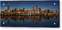 Chicago Reflected Acrylic Print by Semmick Photo