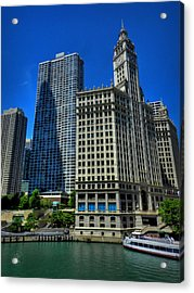 Chicago River 002 Acrylic Print by Lance Vaughn