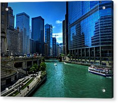 Chicago River 003 Acrylic Print by Lance Vaughn