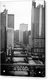 Chicago River Acrylic Print by Allan Millora