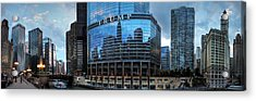 Chicago River Pano 001 Acrylic Print by Lance Vaughn