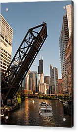 Chicago River Traffic Acrylic Print by Steve Gadomski